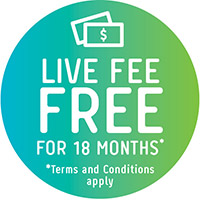 Live Fee Free for 18 months